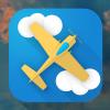 扁平化飞机图标icon