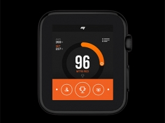 Apple watch app UI for Sports Performance